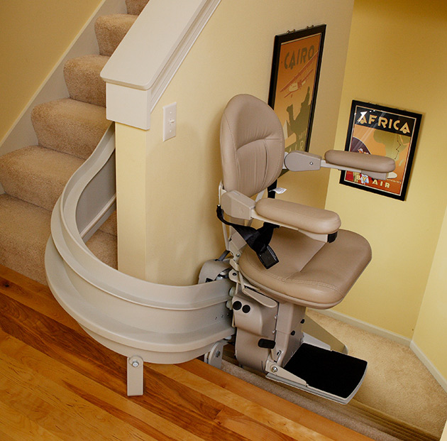 City curved stair chair lift