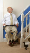 Acorn Brooks straight rail stairlift