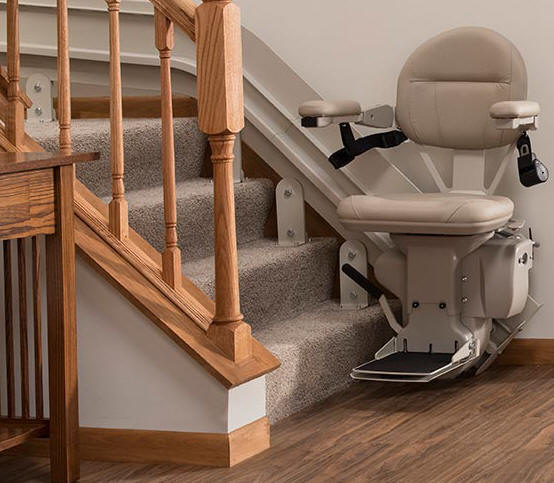 Milipitas Indoor Outdoor Curved Stair Lift Chair