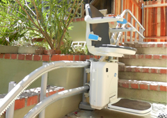 outside exterior outdoor stairlift